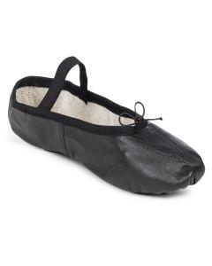 Ballettschläppchen mit geteilter Sohle aus Leder 105