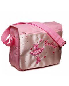 Umhängetasche Pink Ballerina Katz